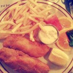 American fish and chips