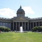 Il colonnato della cattedrale di Kazan